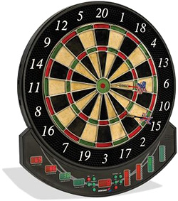 Genuine Bristle Dartboard with Electronic Scoring (Image courtesy Hammacher Schlemmer)