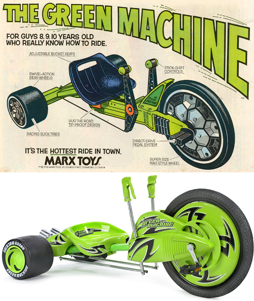 The Green Machine (Images courtesy Marx Toys &  Huffy)