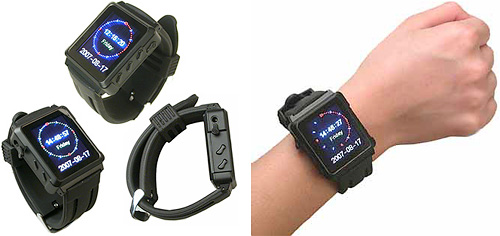 Wrist Watch MP4 Player With FM Transmitter, 4GB (Images courtesy Gadget-usb.com)