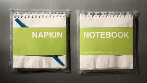 Napkin Notebook (Image property of Dan Lipow)