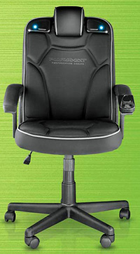 wireless office speakers. Pyramat Wireless PC Gaming Chair 2.1 (Image Courtesy The Sharper Image) Office Speakers E