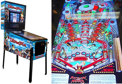 UltraPin Digital Pinball Machine (Images courtesy ExtremeToysForBoys.com)