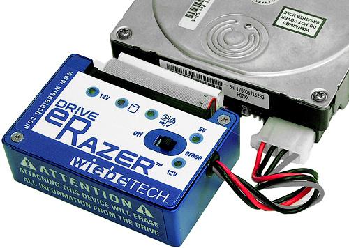 WiebeTech Drive eRazer (Image courtesy WiebeTech)