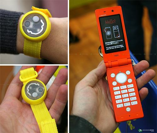 Fujitsu F801i Cellphone (Images courtesy Akihabara News)