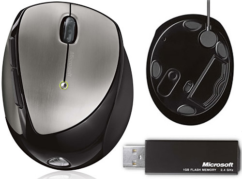 Microsoft Mobile Memory Mouse 8000 (Images courtesy Microsoft)