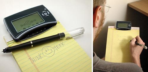 Mobile Notetaker (Images courtesy ThinkGeek)