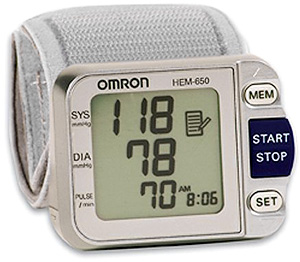 Omron HEM-650 Wrist Blood Pressure Monitor (Image courtesy Amazon)