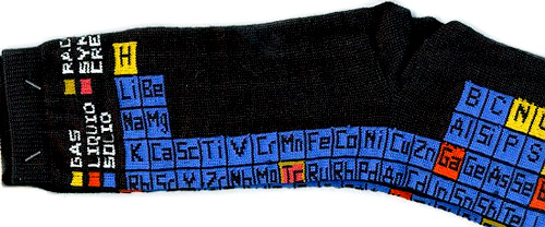Periodic Table Socks (Image courtesy Gifts For Engineers)