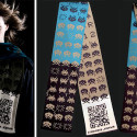 OGCC Day 19 – Space Invaders Themed Scarf With Knitted QR-Codes