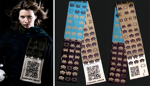 The Invader Scarf (Images courtesy Lendorff Kaywa)