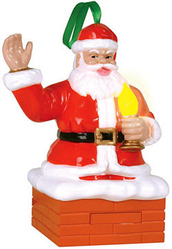 Santa's Magic Blowout Christmas Ornament (Image courtesy MerlinsBox)