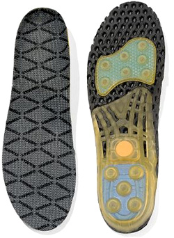 Titanium Spring Loaded Insoles (Image courtesy Hammacher Schlemmer)