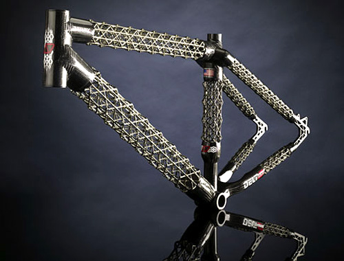 OhGizmo! » Archive » Tiny Carbon Fiber Pyramids Used For Lighter & Stronger Bike Frames :  digital lighter raquo stronger