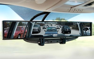 No Blind Spot Rear View Mirror (Image courtesy Hammacher Schlemmer)