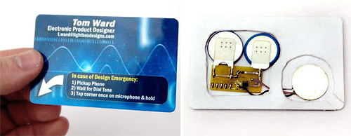 Autodialling Business Card (Images courtesy Tom Ward VIA Instructables)