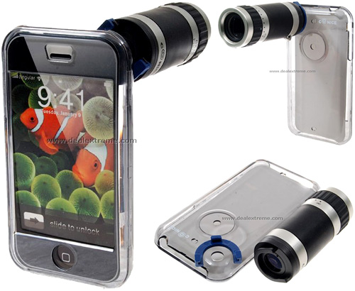 Conice 6x18 Zoom Attachment for iPhone (Images courtesy DealExtreme)