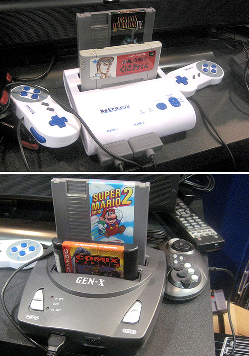 Retro Console Clones (Images courtesy Wired Gadget Lab)