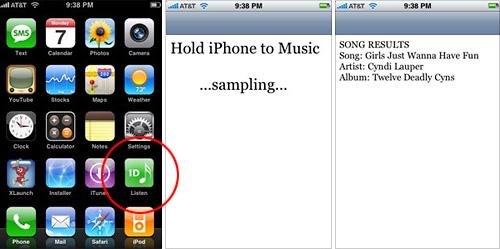 iPhone Listen (Images courtesy The Unofficial Apple Weblog)