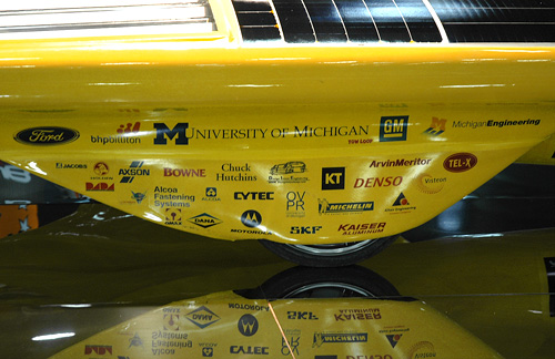 University of Michigan Solar Car Team Continuum (Image property of OhGizmo!)