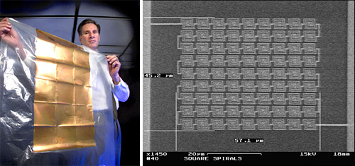 Steven Novack with Nanoantenna Arrays (Images courtesy INL)