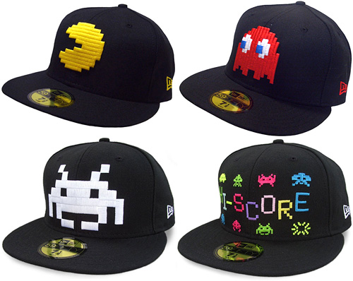 New Era Pacman and Space Invaders Hats (Images courtesy Cap Collector & High Snobiety)