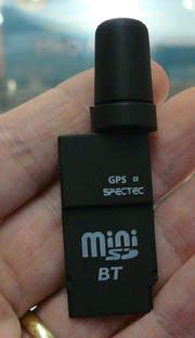 miniSD Bluetooth GPS