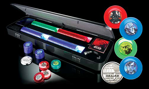 Star Wars Poker Chip Set (Image courtesy Sharper Image)