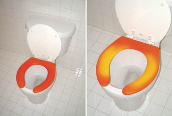 Thermochromatic Toilet Seat