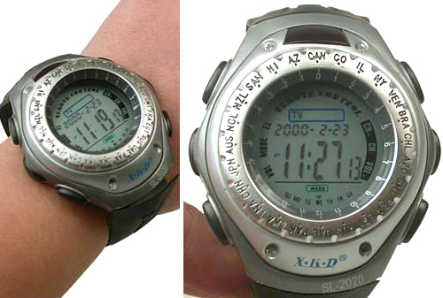 World Time Zone TV Remote Control Watch (Images courtesy Vavolo)
