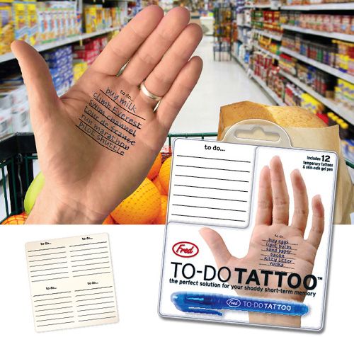 To-Do Tattoo (Image courtesy WorldWideFred.com)