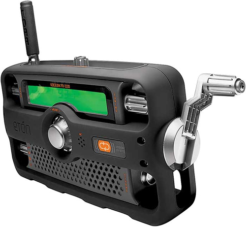 2-Way AM/FM/NOAA Crank Radio (Image courtesy the Herrington Catalog)