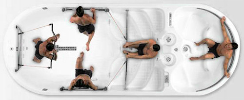 AquaFit 19DT (Image courtesy Dimension One Spas)