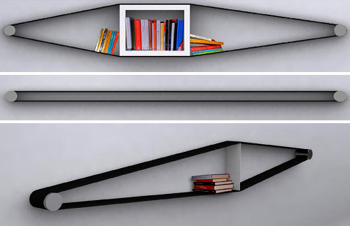 Elastico Shelf Concept (Images courtesy Arianna Vivenzio)