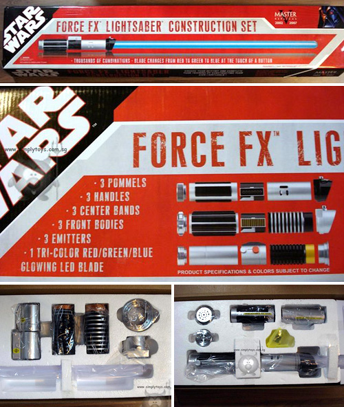 Master Replicas Force FX Lightsaber Construction Set (Images courtesy Simply Toys)