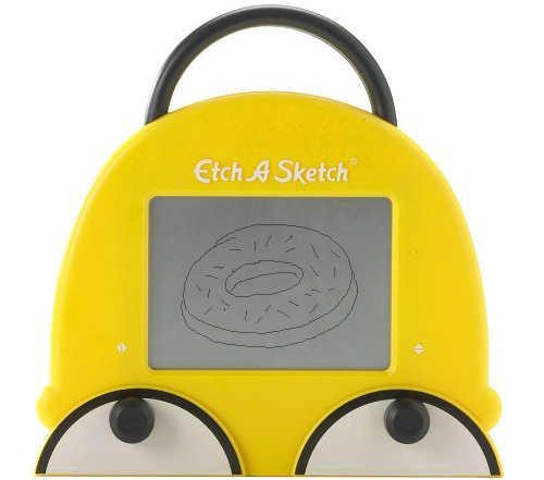 Homer Simpson Etch A Sketch (Image courtesy Perpetual Kid)