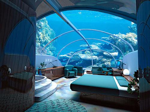 Istanbul's 7 Story Underwater Hotel (Image courtesy Vagabondish)