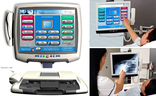 MEDIVista Information Management / Patient Entertainment System (Images courtesy Medgadget)