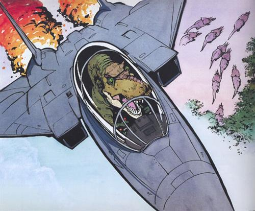 Tyranosaurs In F-14s