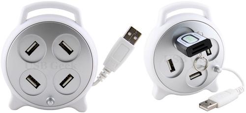 Whirl 4 Port USB Hub (Images courtesy USBGEEK)