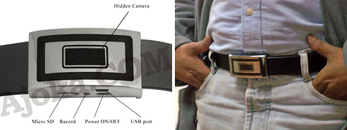 Belt Buckle DVR With Camera (Images courtesy Ajoka.com)