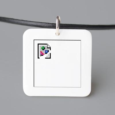 Broken Image Necklace