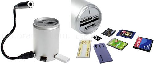 Brando Canned Shape Card Reader & USB Hub (Images courtesy Brando.com.hk)