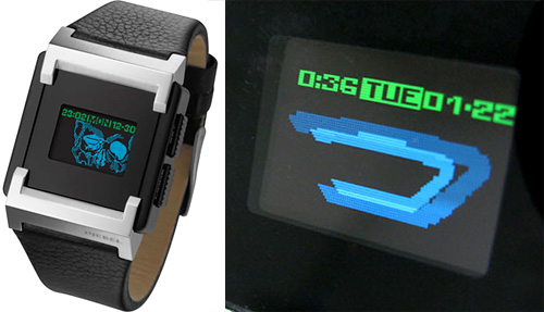 Diesel OLED Time Frames (Images courtesy Diesel & technabob)