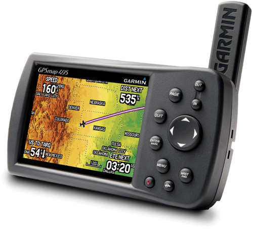 Garmin GPSMAP 495 (Image courtesy Garmin)