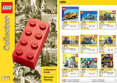 LEGO Collector Catalog (Images courtesy Boing Boing Gadgets)