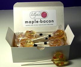 Maple-Bacon Lollipops (Image courtesy Lollyphile)
