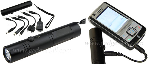 One Battery Emergency Mobile Charger Torch (Images courtesy Gadget4all.com)