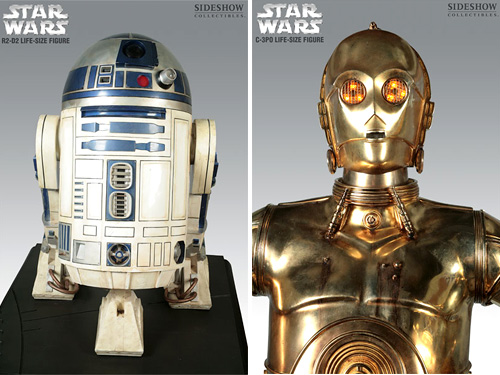 R2-D2 & C-3PO Life-Size Figures (Images courtesy Sideshow Collectibles)