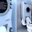 WashUP Concept Stacks A Washing Machine On Your Toilet