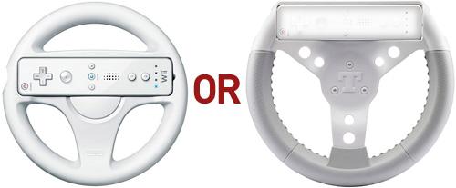 Thrustmaster T-Go Kart NW Wii Wheel (Images courtesy Nintendo and Thrustmaster)